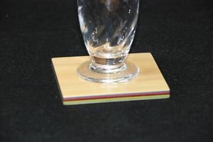 染色桧積層コースター