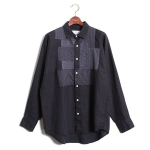Patchwork Shirt -Navy <LSD-AH1S3>