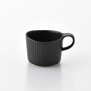線彫 黒マット マグカップ小