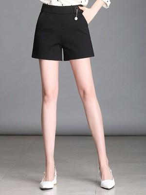 【bottoms】Simple commute Slim shorts