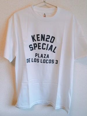 KEN2D SPECIAL PLAZA DE LOS LOCOS 3 Tshirt (白)