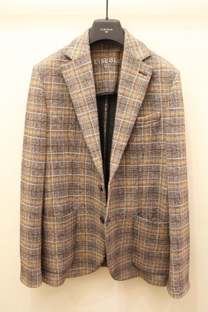 CIRCOLO 1901 Glen Check Jersey Jacket