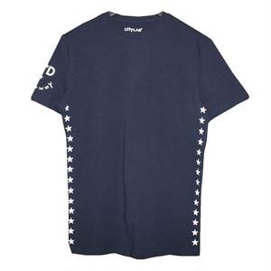 N°Dオリジナル/SIDE STAR/スリムフィット/Tシャツ/ネイビー
