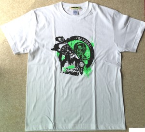 Hurry Up! / T-shirts(White x Green)