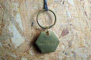 真鍮キーホルダー 六角形