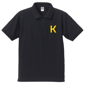 K ポロシャツ(ネイビー×イエロー)