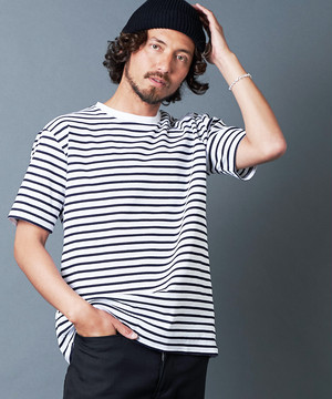 BASQUE SURF KINIT BORDER C/N S/S