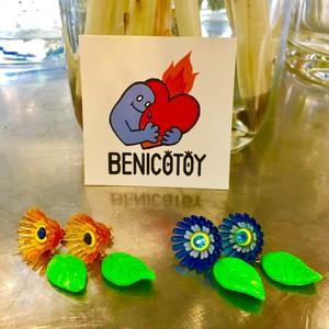 BENICOTOY flower ピアス