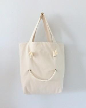 SMILE TOTE・M  /    エクリュ・グレー・レッド・ブラック・ネイビー・ホワイト