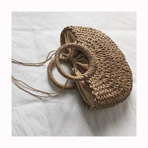 小 かご編みバッグ ペーパーバッグ 夏【16248】