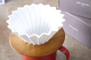 ORIGAMI オリガミドリッパーS ホワイト 木製ドリッパースタンドセット