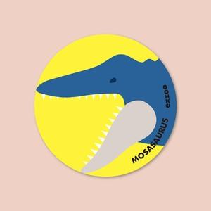モササウルスの丸シール