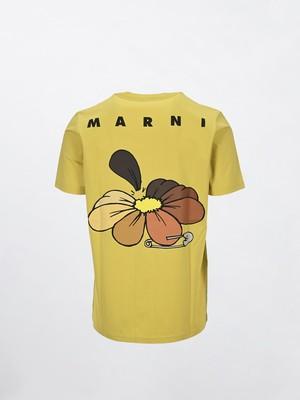 MARNI GIFTING S/S T-SHIRT Yellow HUMU0205P0