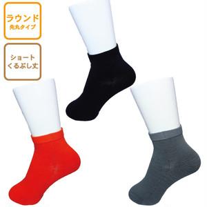 INNER-FACT インナーファクト ラウンド型ソックス ショート丈(くるぶし丈) ブラック/ダークオレンジ/ライトグレー