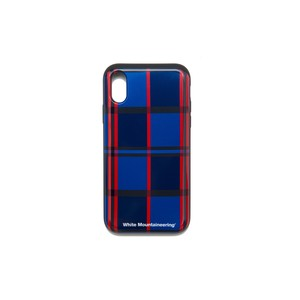 iPhoneX case【LARGE CHECK】- BLUE