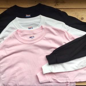 US企画★Hanes Beefy Long T-shirt White, Black,Pink