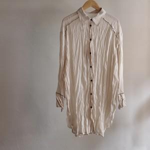 Select Item / Sheer crepe washer Shirt #1 ECRU / シアー クレープ ワッシャー シャツ