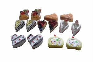 ミニチュアケーキ&フルーツ 17種類34個セット SA-P772