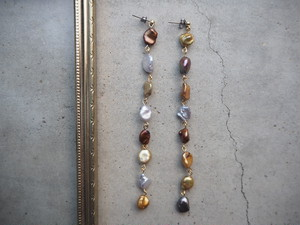 mix freshpearl long pierce/earrings