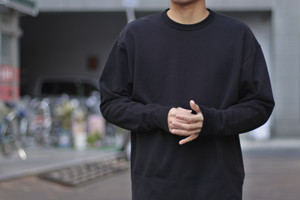 【Phlannèl】Suvin Cotton Sweat Shirt (Men's/Women's)