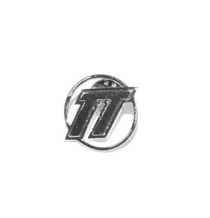 D.TT.K EMBLEM LOGO PIN BADGE SILVER