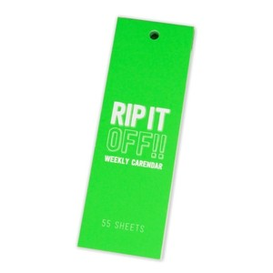 Lixtick RIP IT OFF - WEEKLY CALENDAR - NeonGreen