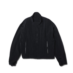 BACK ZIP NYLON JACKET / BLACK