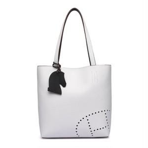 パンチングトートバッグ(ホワイト・ブラック)