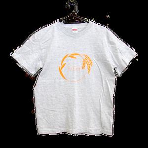 Tシャツ「リングイネ」アッシュ×オレンジ S/M