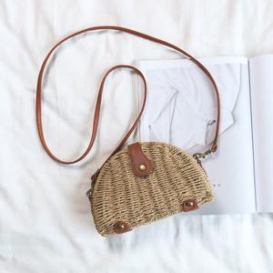 【お取り寄せ商品】Shoulder  Straw bag 6767