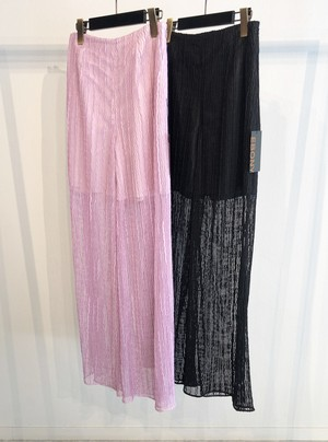 Wave lace Pants<BLACK>