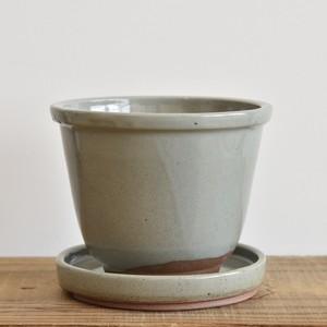伝市鉢5寸丸型/受け皿付き【取り置き専用】