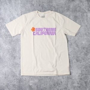 "【Mixta】S/S "" SOUTHERN CALIFORNIA"" T-SHIRT (IVORY) MADE IN USA アメリカ製 Tシャツ 半袖 プリントT ハンドプリント"
