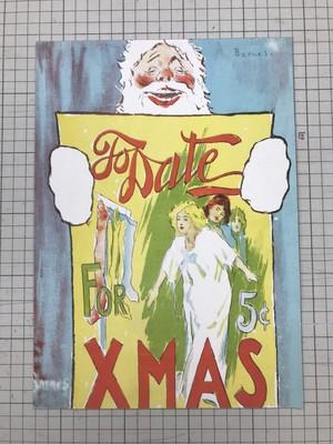 アンティーク クリスマスポスターA4サイズ
