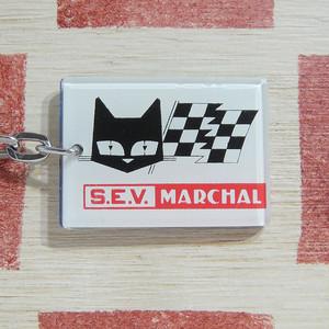 フランス S.E.V. MARCHAL[セブ マーシャル]自動車ライトメーカー黒猫ヴィンテージキーホルダー
