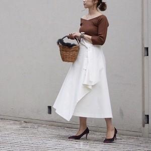 9月15日20時~<予約販売>KU-UM×R.Y.C ラップリボンスカート オフホワイト