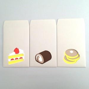 ユニーク紙雑貨 切り絵のぽち袋 CAKE