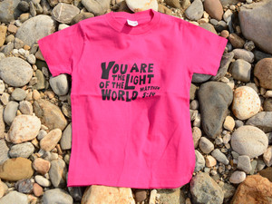 シンプルアクツTシャツ 「YOU ARE THE LIGHT OF THE WORLD (BULB)」