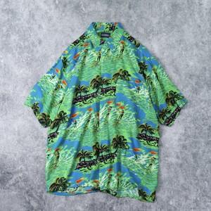 """90年代 """" puritan """" アロハシャツ メンズM 古着 A282"""