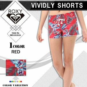 RBS182026 ロキシー ボードショーツ レディース 水着 サーフパンツ ビーチ リゾート かわいい 人気ブランド 赤 ボタニカル柄 ショート丈 M VIVIDLY SHORTS ROXY