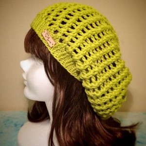 Lime Cotton Beanie
