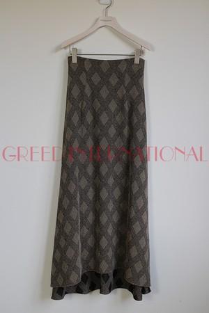 [予約商品][送料無料] GREED(グリード) Argyle Check Jacquard Skirt 2020春物新作[3月-4月頃入荷予定]
