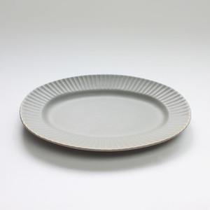 SAKUZAN STRIPE ( 作山 ストライプ )Stripe Oval L(楕円皿)【グレー】