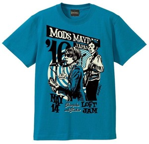 MODS MAYDAY JAPAN 2016 Official Tee (designed by Rockin' Jelly Bean)/ Turquoise Blue
