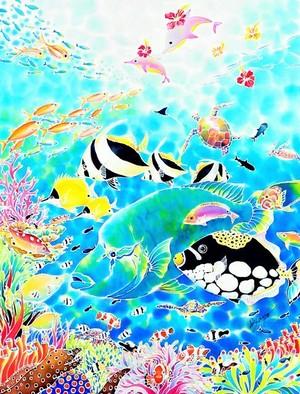 """版画 限定エディション(ミストグラフ) """"ちゅら海ドリーム"""""""