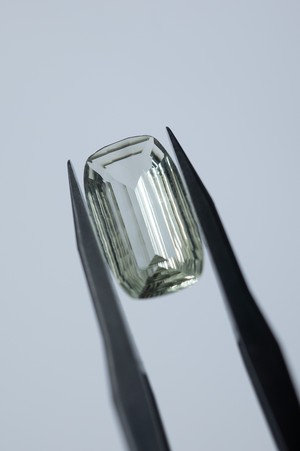 Faceted Prasiolite - 002