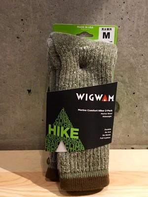 Wigwam/ウィグワム Merino Comfort Hiker 2-Packソックス Olive[M]