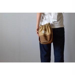 Simva161-0038R MilitaryTent/Leather Round Bag ver.Rope