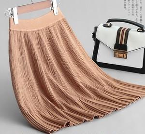 【bottoms】無地スリム新作ニットスカート