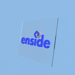 【アクリル立体表札】enside(イラストレーター)スタンドタイプ
